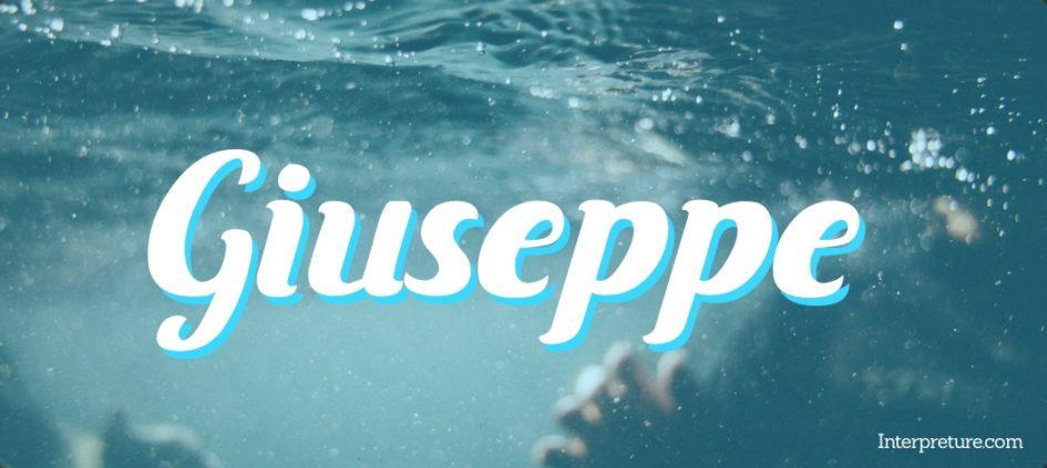 Giuseppe - Poem Analysis